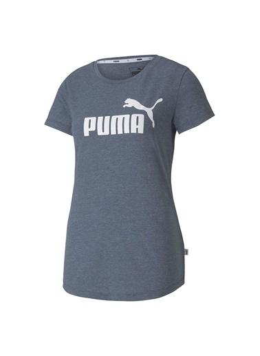 Puma Puma Ess Logo Heather Kadın Tişört 85212743 85212743018 Renkli